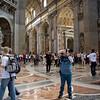 Ben in St. Peter's Basilica.