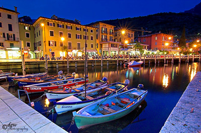 Town of Torbole on Lake Garda.