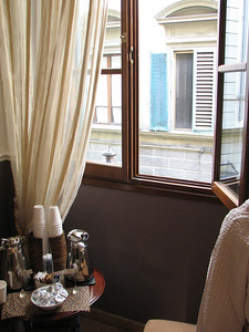 The Globus Hotel, Florence: hot coffee available all day long!