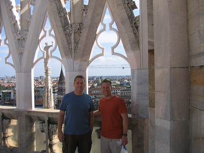 Bryan and Matt on the roof of the Duomo in Milan.  This Duomo is the second largest Gothic Cathedral in the world.