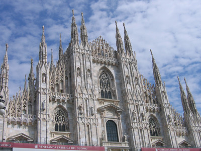 The Duomo in Milan.  It's construction began in the late 14th century and continues still today.