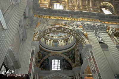 St. Peter's Basilica. Inside to the left