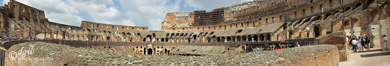 Second level of the Colosseum, Made from 15 photos