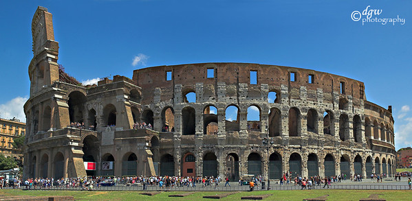 Colosseum in Rome made up of 6 photos