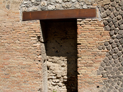 The wood in this doorway survived. Pompeii