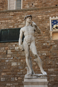 Florance, Italy - Replica Statue of David at Plazzao Vecchio