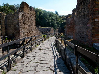 Stone road in Pompeii.