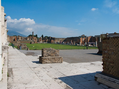 The forum at Pompeii.