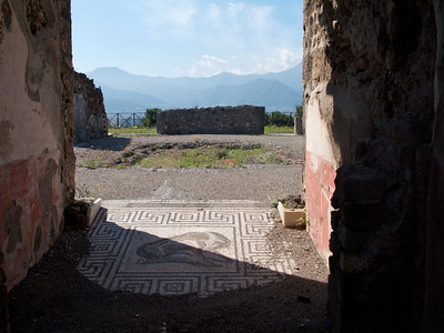 Mosaic in Pompeii.