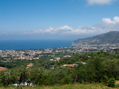 The view from our hike up the hill in Sorrento.