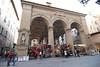 Loggia del Mercato Nuova, (1547 A.D.), where we spent time shopping