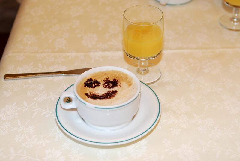 Daily cappuccino at Hotel Alessandra