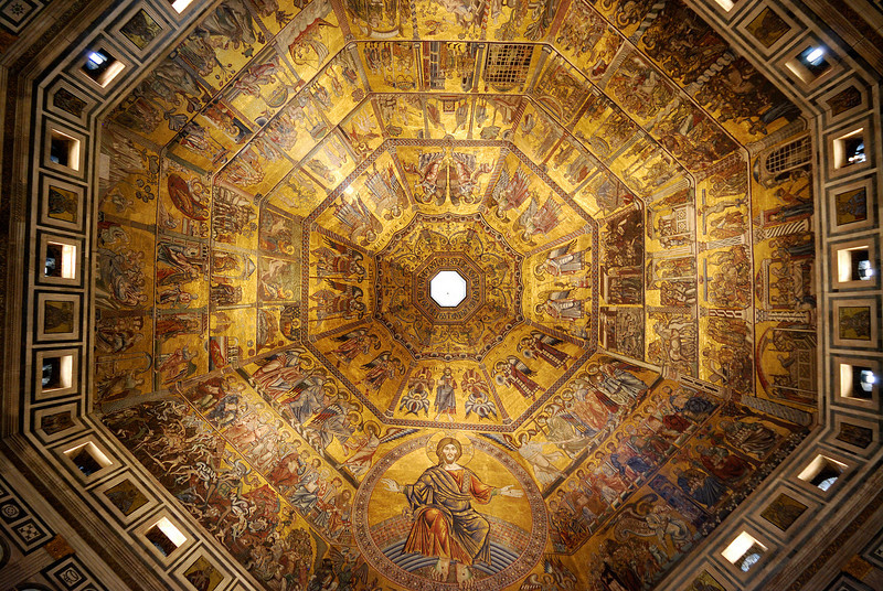 Mosaic covered dome of the Florence Baptistry