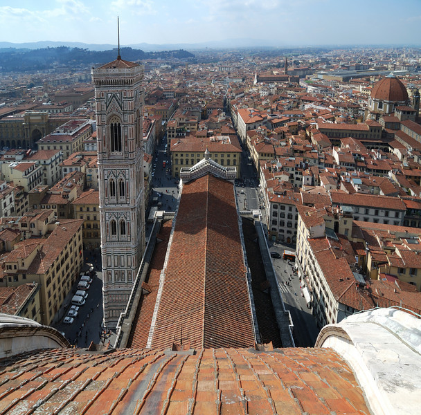 Giotto's Tower from the top of the Duomo