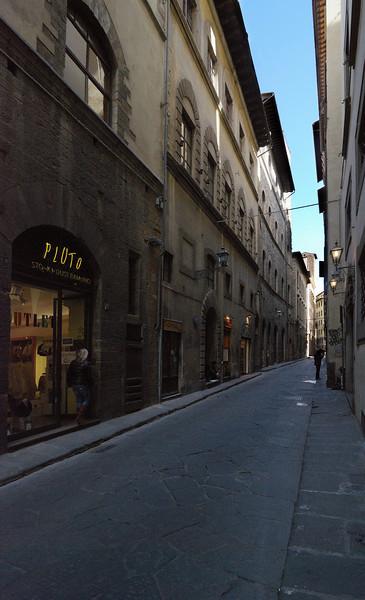 Borgo Santi Apostoli, looking toward Piazza della Signoria from our hotel