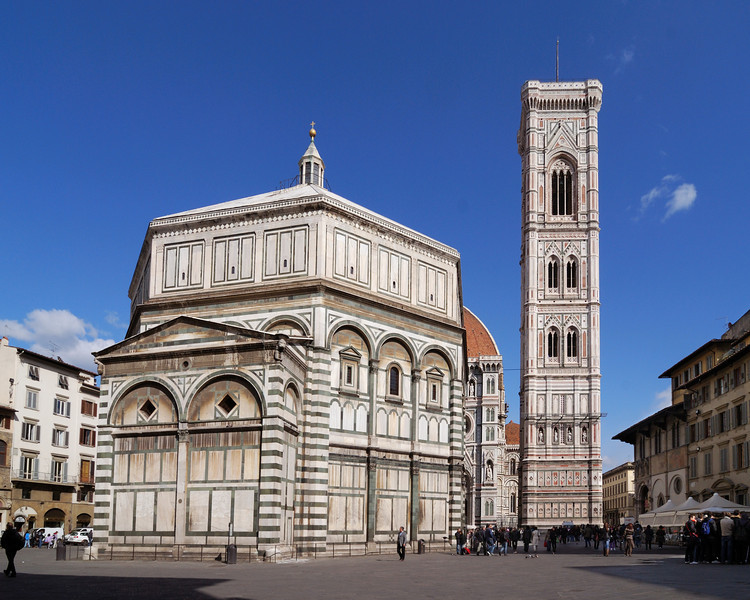 Giotto's Tower (camponile) and the Florence Baptistry
