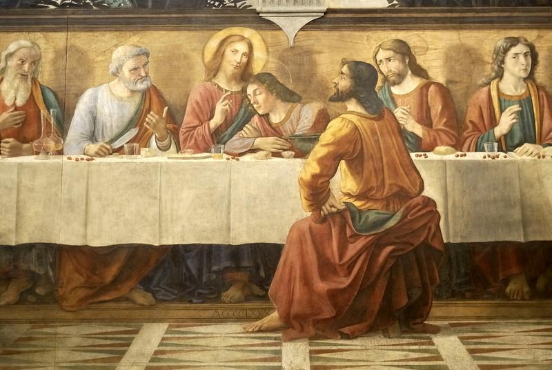 Detail of Ghirlandaio's Last Supper