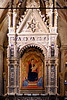 Andrea Orcagna's gothic tabernacle (1355-1359) showcasing Bernardo Daddi's Madonna and Child painting (1335) in Orsanmichele