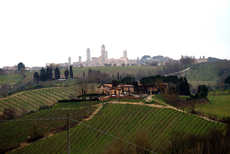 San Gimignano on a very rotten day for photography