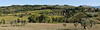 Stitched photo of the country next to the abbey.