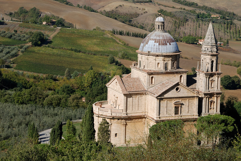 San Biagio, which sits just outside of Montepulciano.  We would come back to visit this building toward sunset.