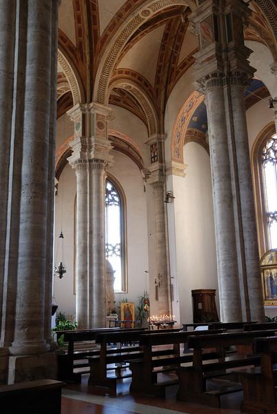 Interior of Pienza's duomo.