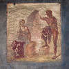 Wall painting near the market area in Pompeii.