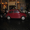 "Rome - This vintage ""Cinque Cento"" was expertly parked by a very determined driver (I watched the process).  The restaurants where I dined on my first and second nights in Rome can be seen in the background,"