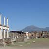 The Forum in Pompeii, with Vesuvius looming.