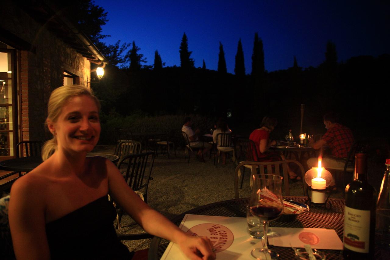 Dinner at Villa di Monte Solare.