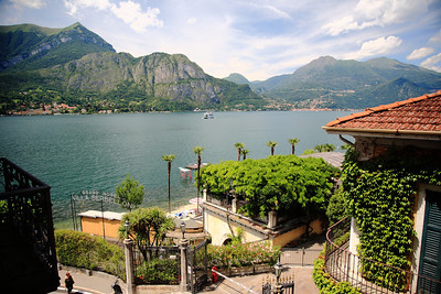 """View from our """"no lake view"""" room at Hotel Florence in Bellagio. We didn't complain."""