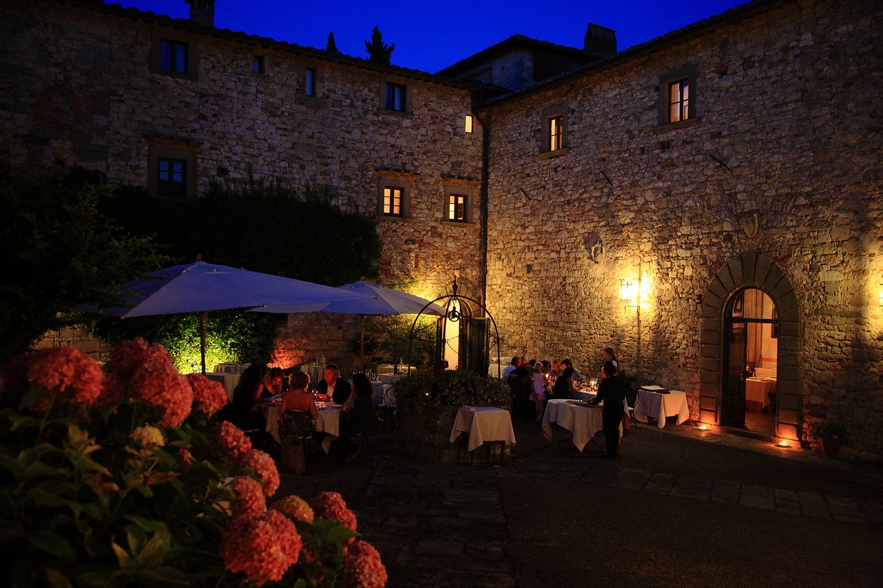 Restaurant where we had dinner at Castello di Spaltenna, Gaiole in Chianti.