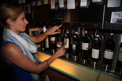 Cool wine shop we found in Bellagio called Enoteca Principessa -- load money onto a card, insert card into machine, sample any wine you like.