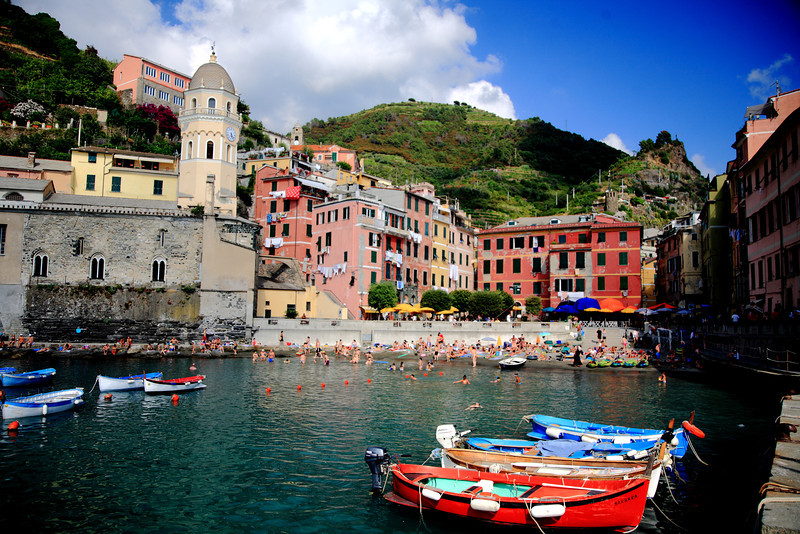 Vernazza looked exactly the same as 11 years before, except now overrun with American tourists who quote chapter and verse from Rick Steves like he's the travel messiah.