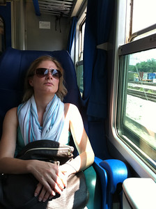 On the train to Lake Como.