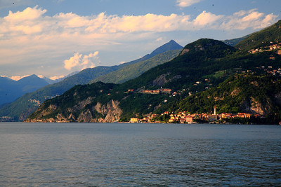 The sun sets on Varenna.