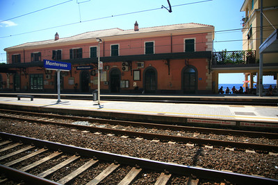 Taking the train south to start our hike along the goat paths connecting the villages of the cinque terre.