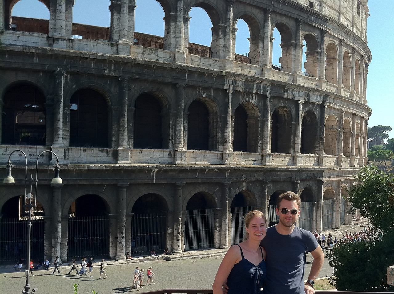 At the Colosseum.
