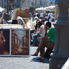Piazza Navona: Tourists, Performers, Artists and People Watchers.