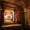 Reliquary of the The Holy Crib in the Crypt of the Nativity beneath the high altar.