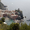 Cinque Terre - Vernazza.  This is one of the classic views of Vernazza, taken from the trail.