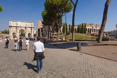 Arch of Constantine and Colosseium