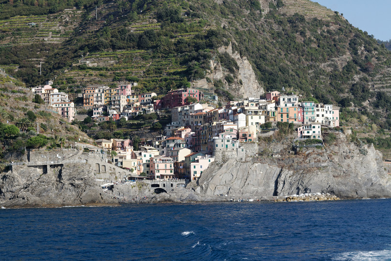 Cinque Terre - Manarola.  This was taken from the boat in the late afternoon.
