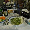 Cinque Terre - Monterosso - one of my typical meals in the area.  A salad along with Pasta & Pesto.