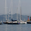 Liguria - Portofino.  Some of the sailing ships in the harbour.