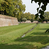 Tuscany - Lucca.  This is a view of part of the impressive Renaissance-era walls that surround the old city.