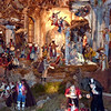 """We fell in love with the Neapolitan-style """"Presepe"""" (creche scenes) that often include not only the Holy Family, but entire surrounding villages of charming, sometimes-animated figures.  We saw several in northern Italy.  This is a dying craft, with only a few artisans making the figures any more.  But we were spellbound."""