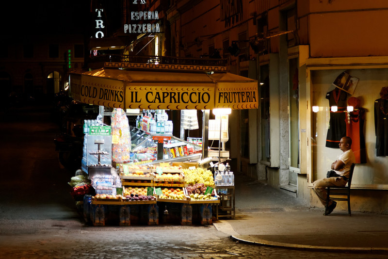 Rome - a fruit & vegetable stand, which was near the Hotel.