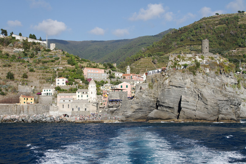 Cinque Terre - Vernazza.  This is easily recognizable due to the distinctive Tower.