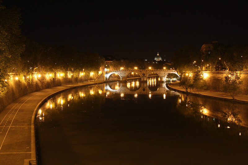 Rome - a view of the Tiber River at night (this is from a previous trip, but I wanted to include it here).